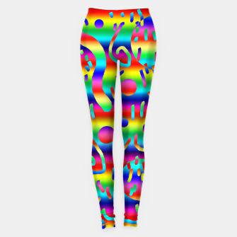 Thumbnail image of Rainbow Confetti Leggings, Live Heroes