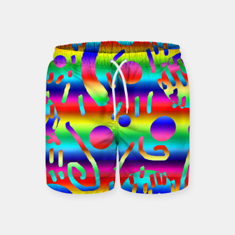 Thumbnail image of Rainbow Confetti Swim Shorts, Live Heroes