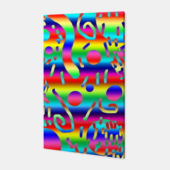 Thumbnail image of Rainbow Confetti Canvas, Live Heroes