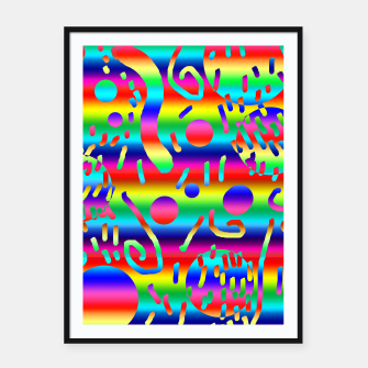 Thumbnail image of Rainbow Confetti Framed poster, Live Heroes