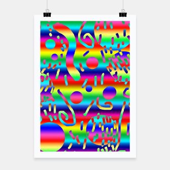 Thumbnail image of Rainbow Confetti Poster, Live Heroes