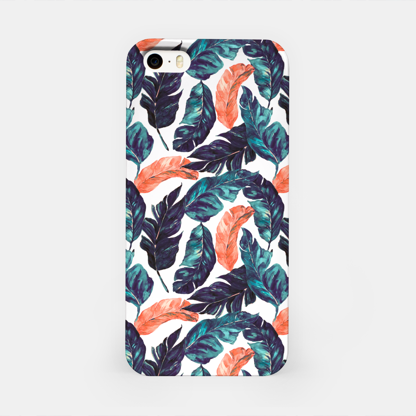 Image of Leaf blue and pink Carcasa por Iphone - Live Heroes