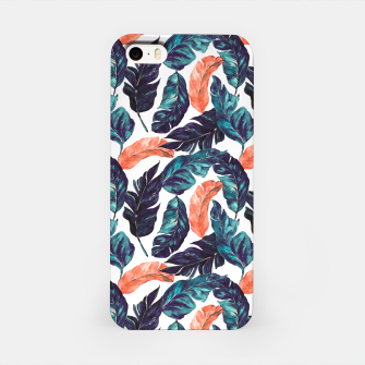 Miniatur Leaf blue and pink Carcasa por Iphone, Live Heroes