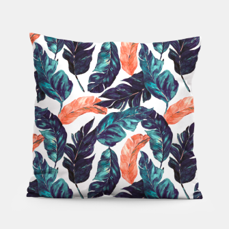 Miniatur Leaf blue and pink Almohada, Live Heroes