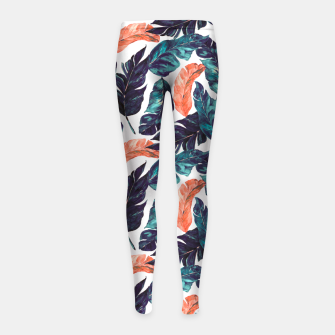 Leaf blue and pink Leggings para niña thumbnail image