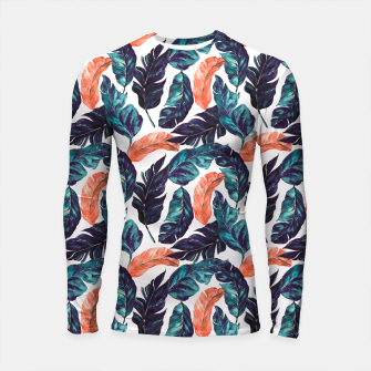 Thumbnail image of Leaf blue and pink Longsleeve rashguard, Live Heroes