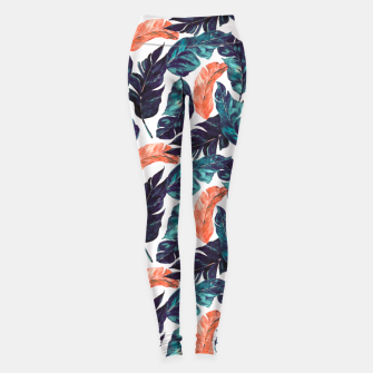 Leaf blue and pink Leggings thumbnail image