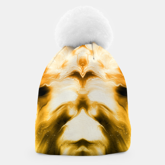 Miniaturka abstract psychedelic paint flow ghost face c14i Beanie, Live Heroes