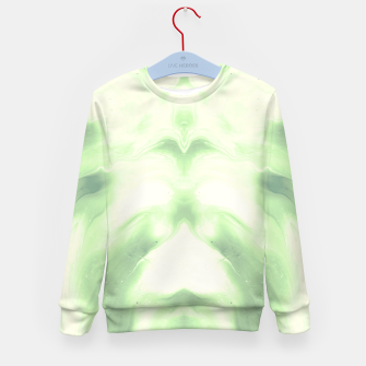 Miniaturka abstract psychedelic paint flow ghost face nfdi Kid's sweater, Live Heroes