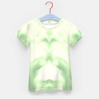 Miniaturka abstract psychedelic paint flow ghost face nfdi Kid's t-shirt, Live Heroes