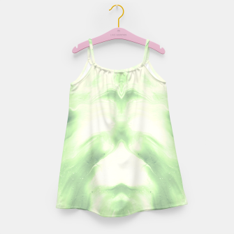 Miniaturka abstract psychedelic paint flow ghost face nfdi Girl's dress, Live Heroes