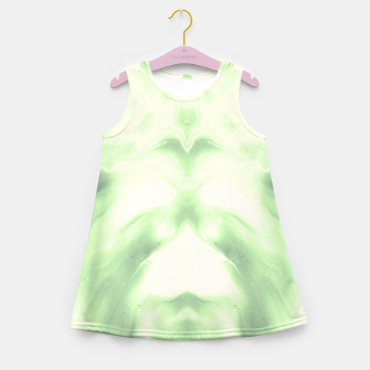 Miniaturka abstract psychedelic paint flow ghost face nfdi Girl's summer dress, Live Heroes