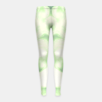 Miniaturka abstract psychedelic paint flow ghost face nfdi Girl's leggings, Live Heroes