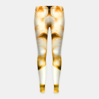 Miniaturka abstract psychedelic paint flow ghost face c14i Girl's leggings, Live Heroes
