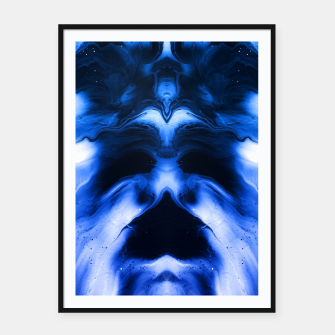 Miniaturka abstract psychedelic paint flow ghost face c14 Framed poster, Live Heroes