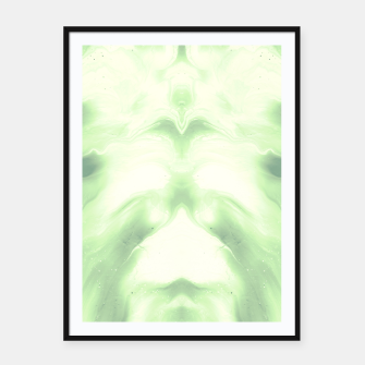 Miniaturka abstract psychedelic paint flow ghost face nfdi Framed poster, Live Heroes