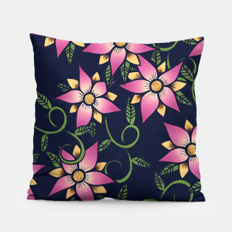 Thumbnail image of Vine Floral Pillow, Live Heroes