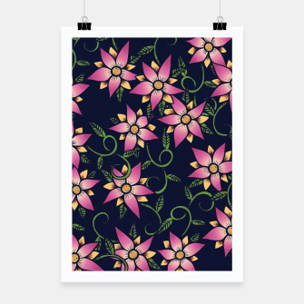 Thumbnail image of Vine Floral Poster, Live Heroes