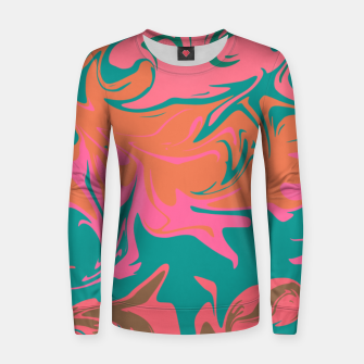 Thumbnail image of Purple storm, abstract hurricane in orange, blue and purple Women sweater, Live Heroes