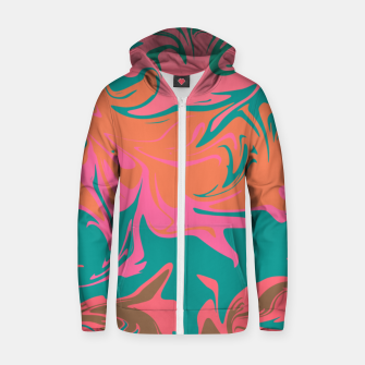 Thumbnail image of Purple storm, abstract hurricane in orange, blue and purple Zip up hoodie, Live Heroes