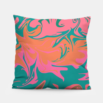 Thumbnail image of Purple storm, abstract hurricane in orange, blue and purple Pillow, Live Heroes