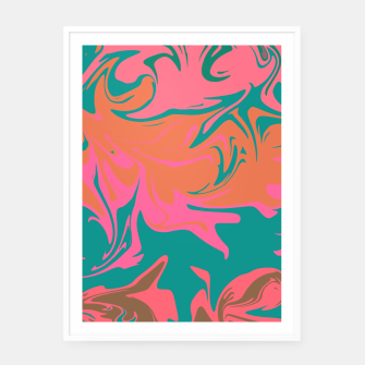 Thumbnail image of Purple storm, abstract hurricane in orange, blue and purple Framed poster, Live Heroes