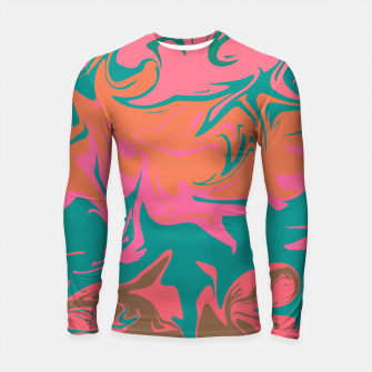 Thumbnail image of Purple storm, abstract hurricane in orange, blue and purple Longsleeve rashguard , Live Heroes