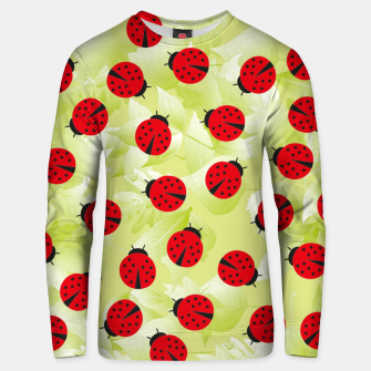 Ladybugs and leaves nature print Unisex sweater Bild der Miniatur
