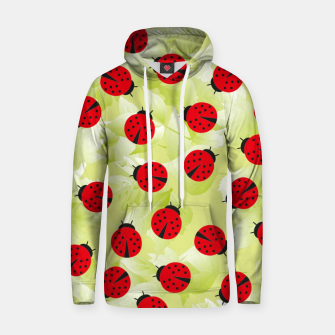 Ladybugs and leaves nature print Hoodie Bild der Miniatur