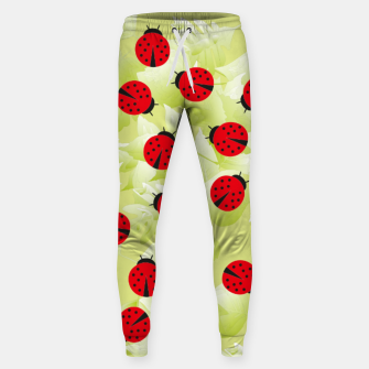 Ladybugs and leaves nature print Sweatpants Bild der Miniatur