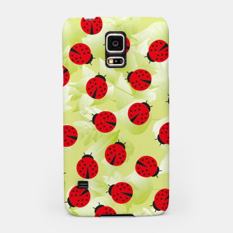 Ladybugs and leaves nature print Samsung Case Bild der Miniatur