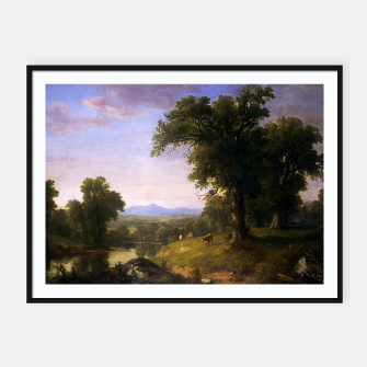 Thumbnail image of A Pastoral Scene By Asher Brown Durand Framed poster, Live Heroes