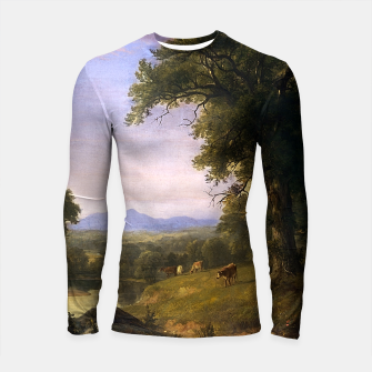 Thumbnail image of A Pastoral Scene By Asher Brown Durand Longsleeve rashguard , Live Heroes