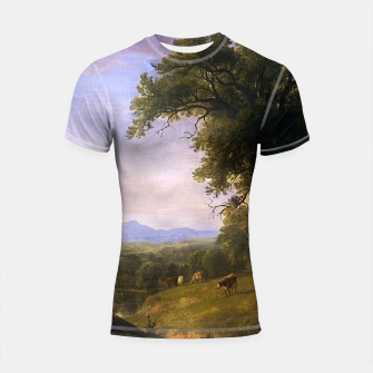 Thumbnail image of A Pastoral Scene By Asher Brown Durand Shortsleeve rashguard, Live Heroes