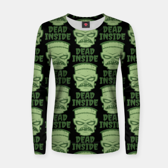 Thumbnail image of Dead Inside Frankenstein Monster Women sweater, Live Heroes