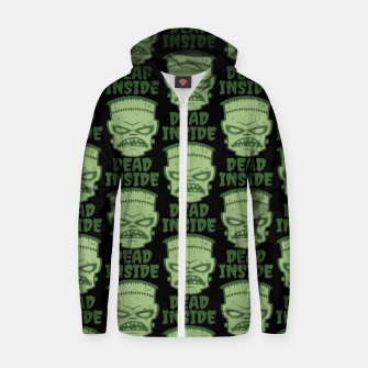 Thumbnail image of Dead Inside Frankenstein Monster Zip up hoodie, Live Heroes