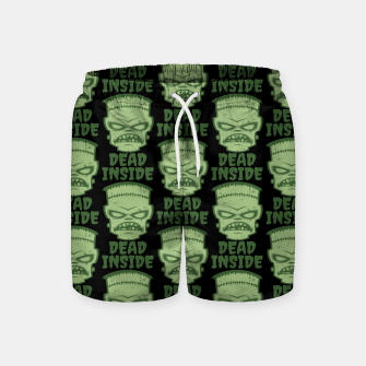 Thumbnail image of Dead Inside Frankenstein Monster Swim Shorts, Live Heroes