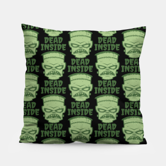 Thumbnail image of Dead Inside Frankenstein Monster Pillow, Live Heroes