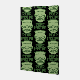Thumbnail image of Dead Inside Frankenstein Monster Canvas, Live Heroes