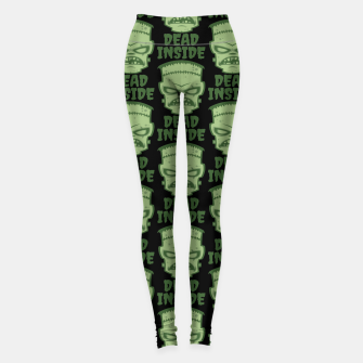 Thumbnail image of Dead Inside Frankenstein Monster Leggings, Live Heroes