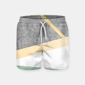 Thumbnail image of Golden LUXE Swim Shorts, Live Heroes