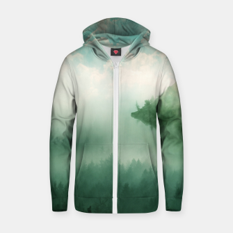 Thumbnail image of Mystical Woods Zip up hoodie, Live Heroes
