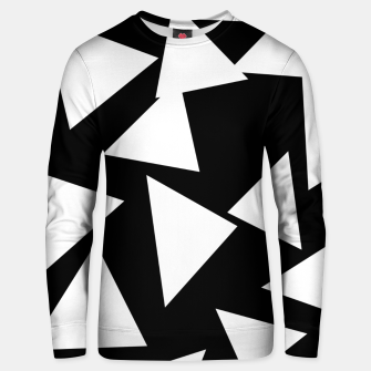 Miniatur Flying Triangles Black and White Unisex sweater, Live Heroes
