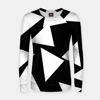 Miniatur Flying Triangles Black and White Women sweater, Live Heroes