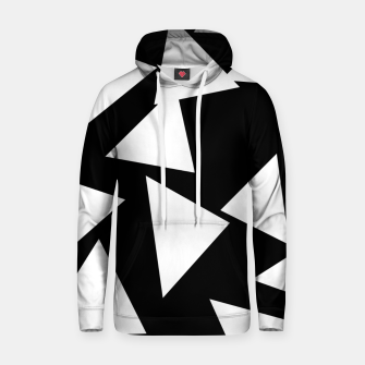 Miniatur Flying Triangles Black and White Hoodie, Live Heroes