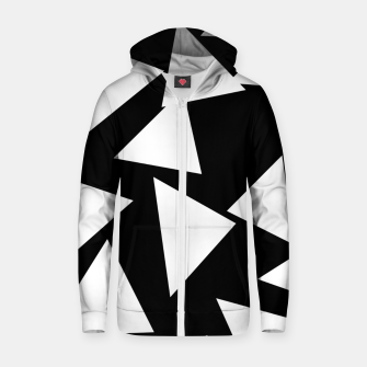 Thumbnail image of Flying Triangles Black and White Zip up hoodie, Live Heroes