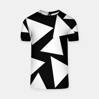 Miniatur Flying Triangles Black and White T-shirt, Live Heroes