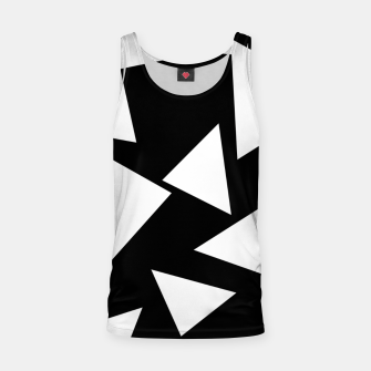 Miniatur Flying Triangles Black and White Tank Top, Live Heroes