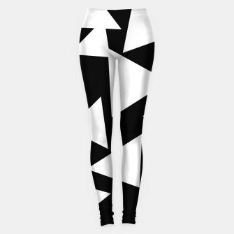Thumbnail image of Flying Triangles Black and White Leggings, Live Heroes