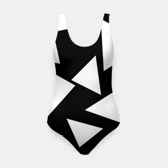 Miniatur Flying Triangles Black and White Swimsuit, Live Heroes